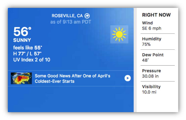 weather in roseville