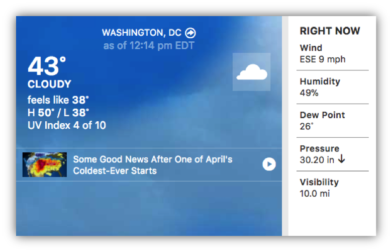 Weather in Washington DC