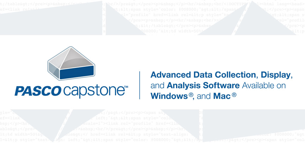 PASCO Capstone Software